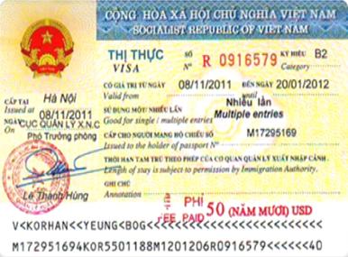 Visa gia hạn nhiều lần
