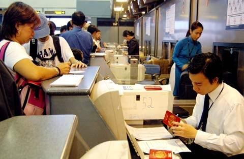 Stamping-visa-at-airport