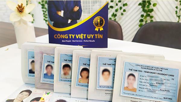 Mẫu thẻ tạm trú dành cho người nước ngoài.