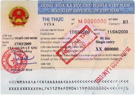 Visa nhập cảnh một lần