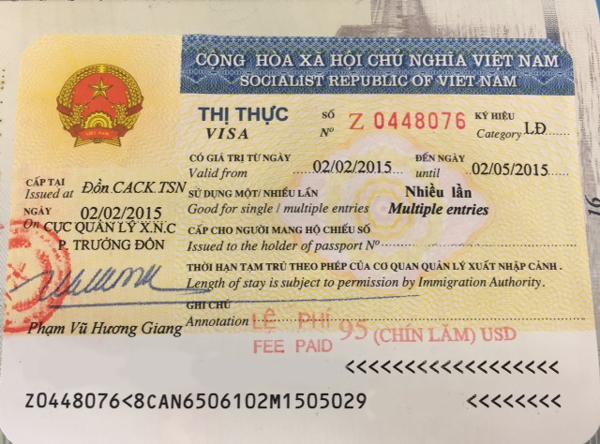 Bình thường từ 5-7 ngày đã có thể nhận visa Việt Nam