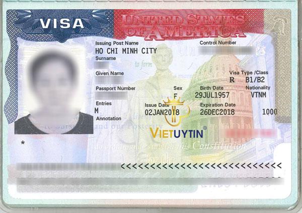 Visa đi Mỹ của khách hàng Việt Uy Tín