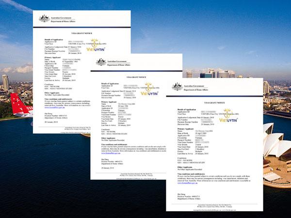 Visa du lịch Úc 1 năm nhiều lần của khách hàng Việt Uy Tín