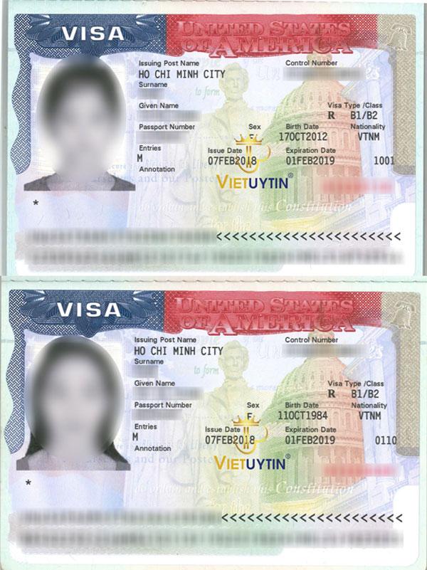Visa du lịch Mỹ của khách hàng Visa Việt Uy Tín