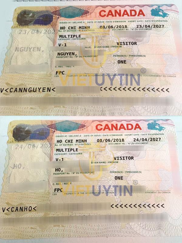 Kết quả visa du lịch Canada của anh Hòa và chị Thái