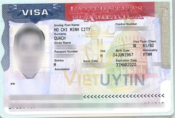 Visa du lịch Mỹ của anh Quang