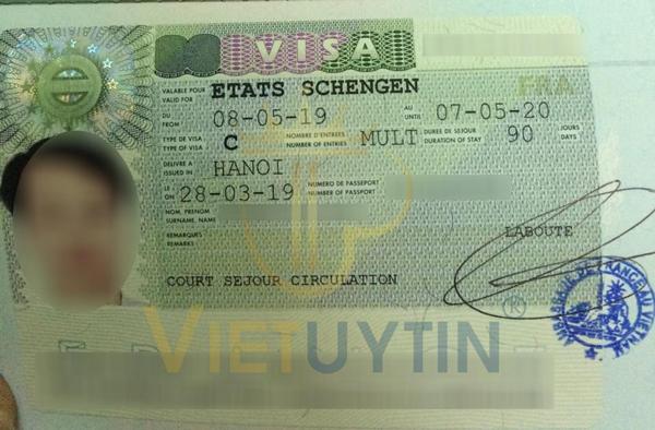 Visa du lịch Pháp của anh Bảo