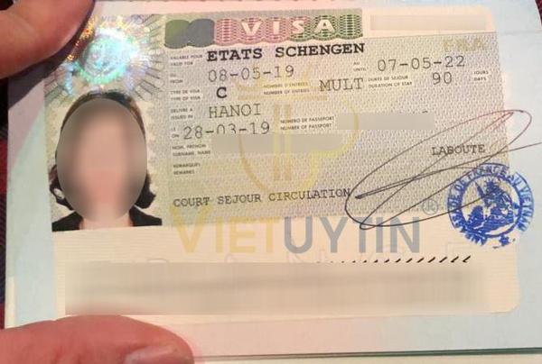 Visa du lịch Pháp của chị Dung
