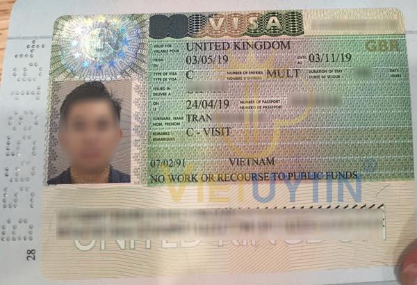 Visa công tác Anh của anh Quân