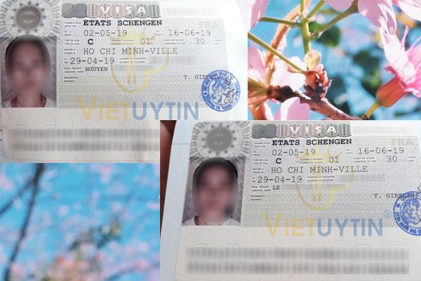 Visa công tác Pháp của chị Hương và chị Nguyệt