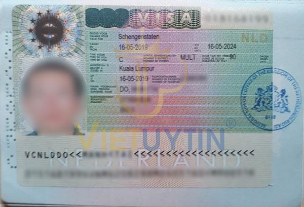 Visa du lịch Hà Lan của anh Dương