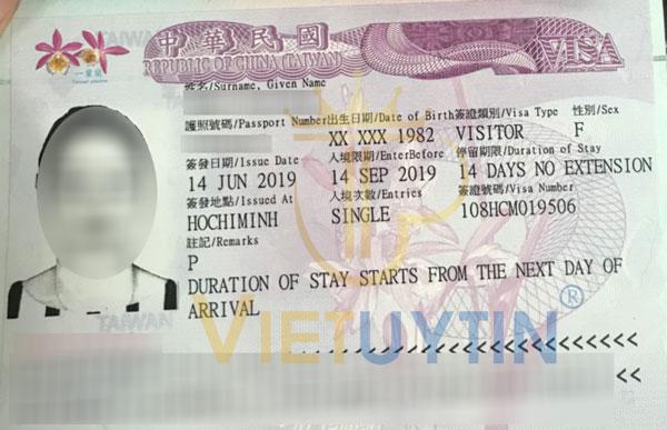 Visa du lịch Đài Loan của chị Hai