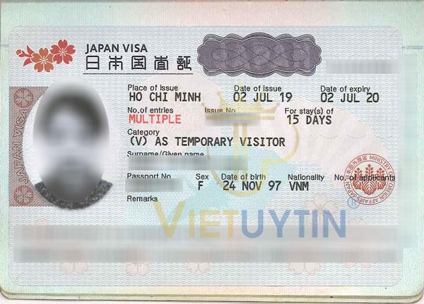Visa du lịch Nhật Bản của Bảo Châu