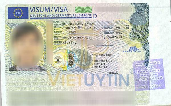 Visa du lịch Đức của chị Nga