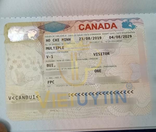 Visa thăm thân Canada của cô Bích