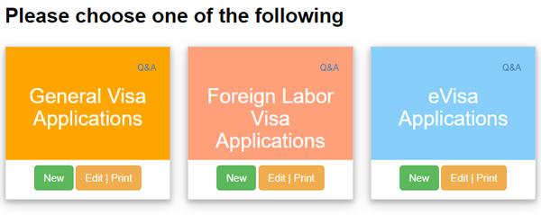Chọn Confirm & Continue sẽ tiếp tục hiện ra giao diện như hình, bạn chọn loại visa