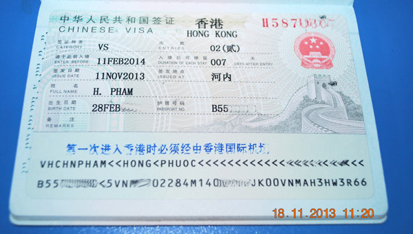 Hồ sơ được nộp tại Đại sứ quán Trung Quốc