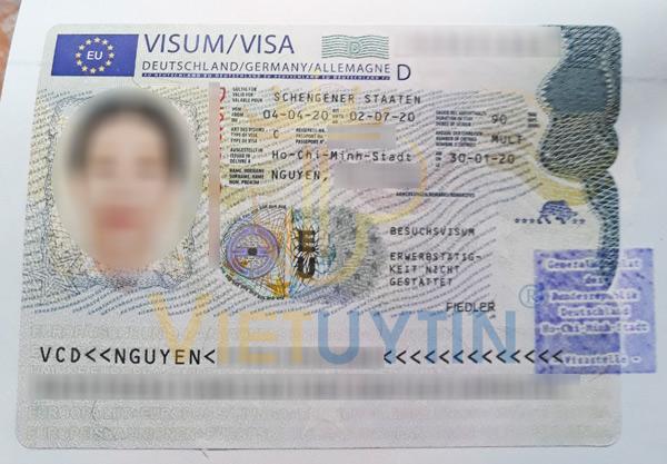 Visa thăm thân Đức của cô An