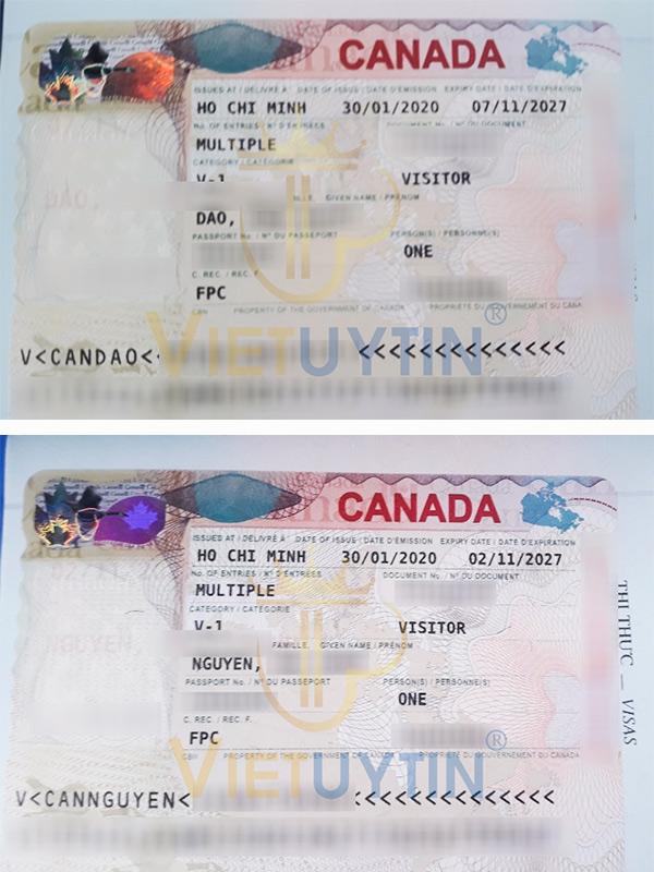 Visa thăm thân của chú Thanh cô Nguyệt