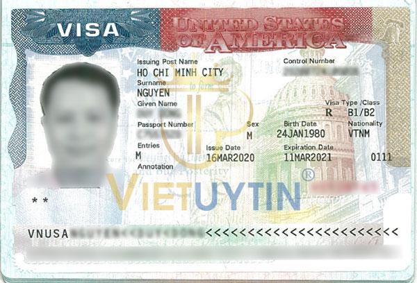 Visa du lịch Mỹ của anh Đông