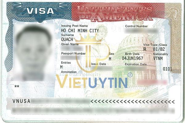 Visa Mỹ của anh Hưng