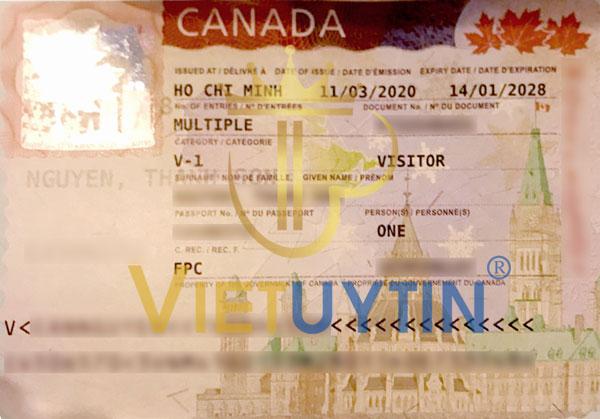 Visa du lịch Canada của chú Sơn
