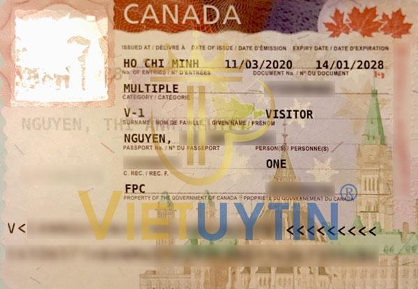 Visa du lịch Canada của cô Nguyệt