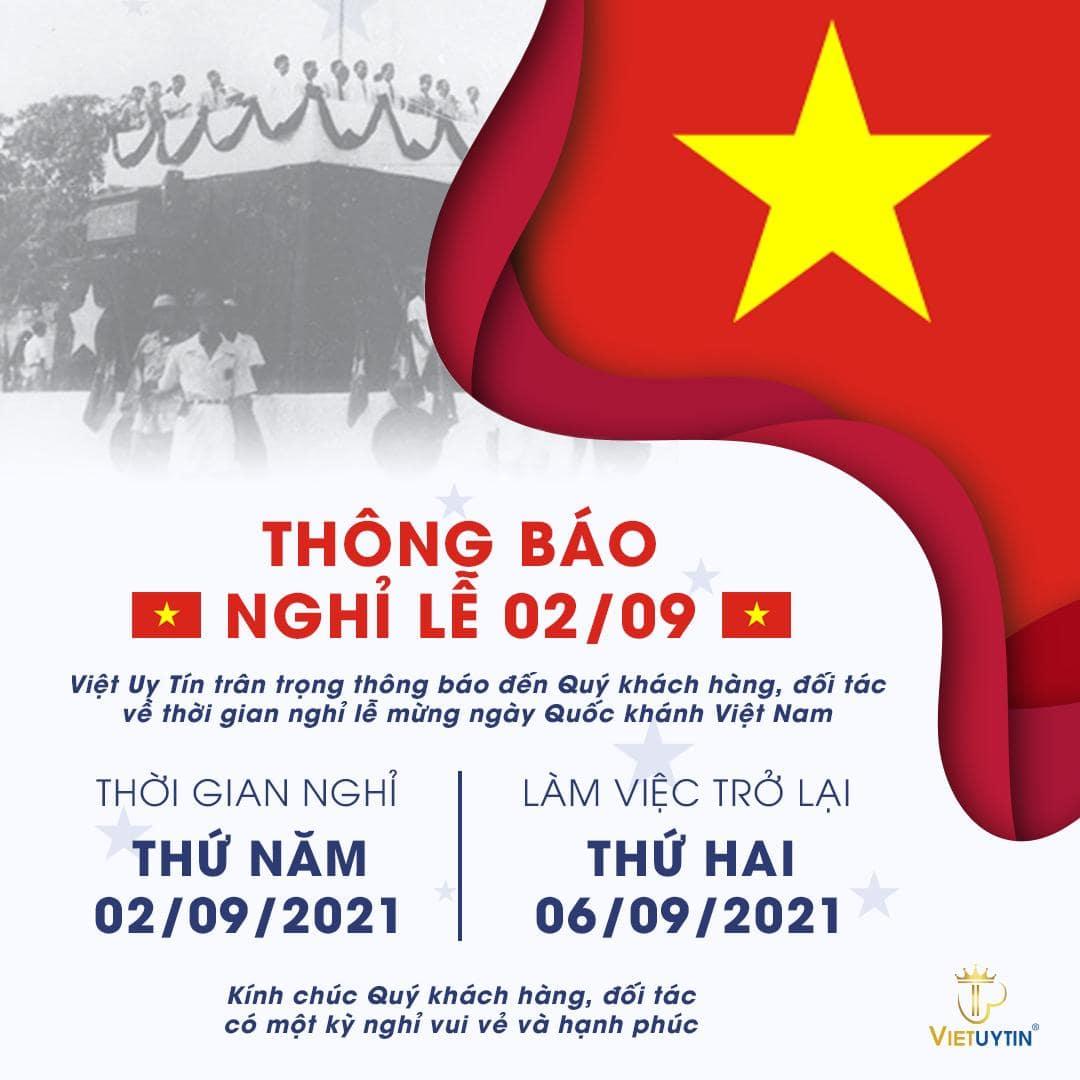 Công ty Việt Uy Tín thông báo nghỉ lễ Quốc khánh 2/9